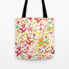 Scared dragons Tote Bag