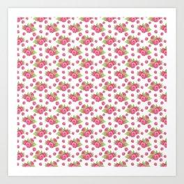 Pinky Raspberry Art Print