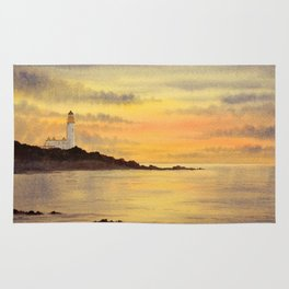 Sunset At Turnberry Scotland Rug