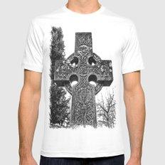 Celtic gravestone Mens Fitted Tee White MEDIUM