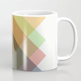 Mid Century Oblique Geometric Squares Coffee Mug