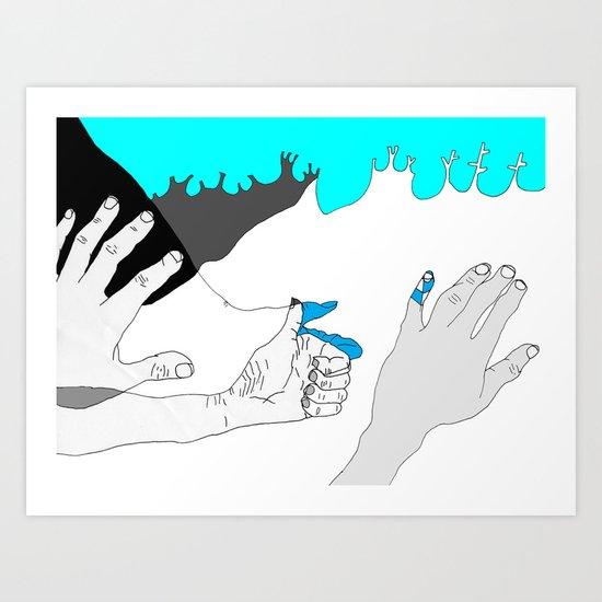 In case you were wondering. Art Print