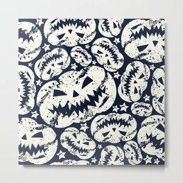 Happy Halloween  pumpkin pattern Metal Print
