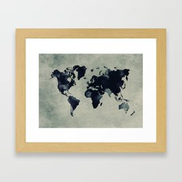 map world map 60 Framed Art Print