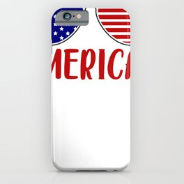 Merica America American Flag Sunglasses iPhone Case