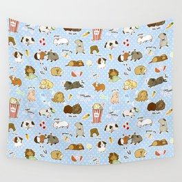 Guinea Pig Party! - Cavy Cuddles and Rodent Romance Wall Tapestry