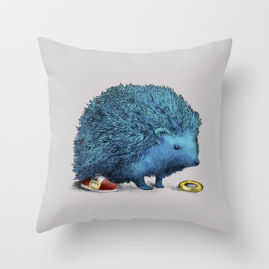 Sonic (color option) Throw Pillow