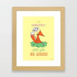 Fox in Love Framed Art Print