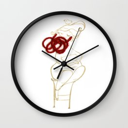 circus-the bearded lady Wall Clock