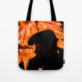 Face profile orange Tote Bag