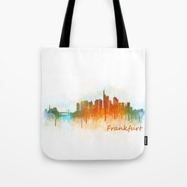 Frankfurt am Main, City Cityscape Skyline watercolor art v3 Tote Bag