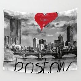 I love Boston Wall Tapestry