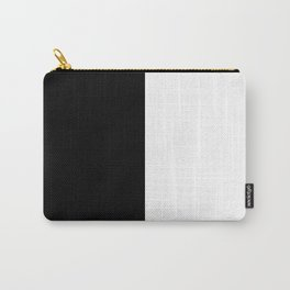 Abstract Black and White Vertical Color Block Carry-All Pouch