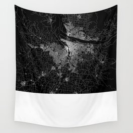 portland map Wall Tapestry