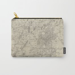 Vintage Map of The Adirondack Mountains (1874) Carry-All Pouch