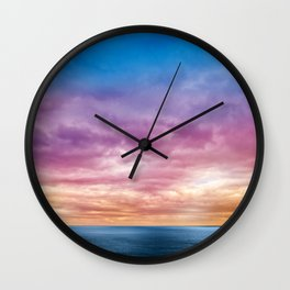 Rainbow Clouds Wall Clock