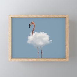 Flamingo in cloud Framed Mini Art Print