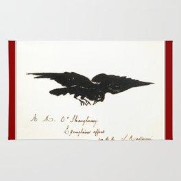 Raven – Le corbeau (ex-libris) Rug