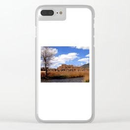 Taos Pueblo, Early Spring Clear iPhone Case