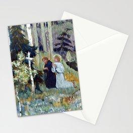 Mikhail Nesterov The Foundingof Trinity Sergius Monastery Stationery Cards