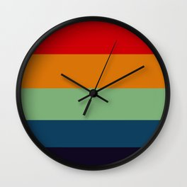 Fall Forest Color Palette Wall Clock