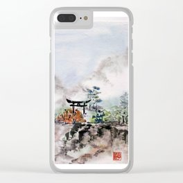 Torii Gate to Misty Mountain Clear iPhone Case