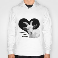 totes Hoodies featuring Totes Ma Goats - Black by BACK to THE ROOTS