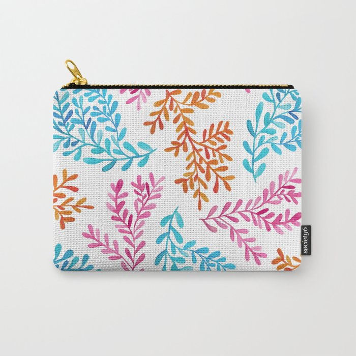 Colourful vines Carry-All Pouch