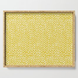 Hand Knit Yellow Serving Tray