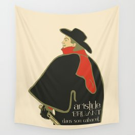 Bruant in his cabaret retro vintage Wall Tapestry