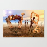 africa Canvas Prints featuring Africa by teddynash
