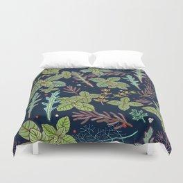 dark herbs pattern Duvet Cover