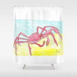 Giant Japanese Spider Crab Shower Curtain