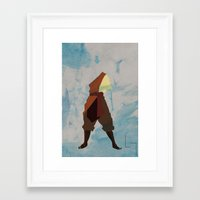 aang Framed Art Prints featuring Aang by JHTY