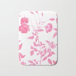 Pink Botanical Garden Bath Mat