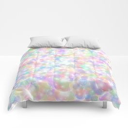 Rainbow Bubbles of Light Comforters