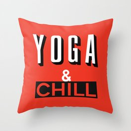 Yoga & Chill Throw Pillow