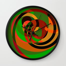 Graffiti design cool abstract mottled pattern of red and green Wall Clock