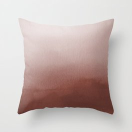 Dunn Edwards Spice of Life DET439 Abstract Watercolor Ombre Blend - Gradient Throw Pillow
