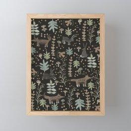 Woodland Nature at Night Framed Mini Art Print