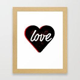 Love Distressed Heart Framed Art Print