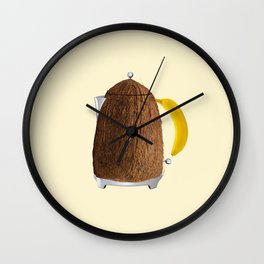 Kettle coconut Wall Clock