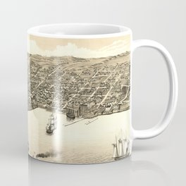 Vintage Pictorial Map of Duluth MN (1883) Coffee Mug