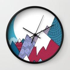 Blue Sky Mountains Wall Clock