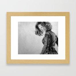 Black Widow Framed Art Print