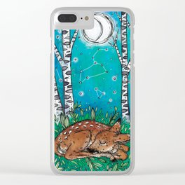 Little Dreamer Fawn Clear iPhone Case