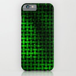 Green Abstract Weave Pattern iPhone Case