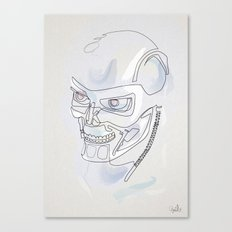 One line T800 Canvas Print