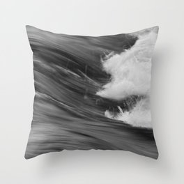 Smooth Turbulence Throw Pillow