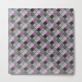 Modern Gothic Fleur de Lys Pattern Metal Print